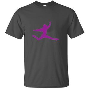 100% coton ballerine Ballett Danse Danseur Tanz Taenzer Yoga T-shirt pour hommes Imprimé vêtements Harajuku T-shirts T-shirt
