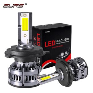 EURS M5 H7 H4 Car LED Headlight Bulbs H1 H11 H3 9005 9006 3 50W 8000LM 3000K 4500K 6000K 12V Auto Mini Headlamp COB Fog Light