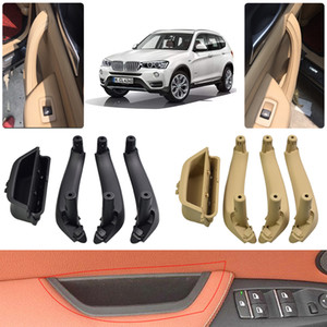 New Styling Black Beige Car Interior Door Pull Handle Armrest Panel Pull Trim Cover For BMW X3 X4 F25 F26 2010-2017 Car Accessories