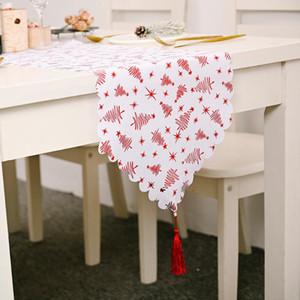 زينة عيد الميلاد الأوروبي مذهب الأبيض طاولة العلم الإبداعي الجديد طاولة صخر لوحي أسلوب ومذهب الديكور الأمريكي