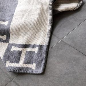 Письмо Серый шаблон Одеяло Sgipping плед Большой Высокий стиль Главная Одеяло Color Free Текстиль H New Classic Скидка Soft Quality bbySU