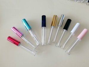 Wholesale 10ml Pink Gold Blue Round Clear Lip Gloss Tube Empty Lipgloss Tube Refillable Lip Gloss Bottle Packaging Container lipgloss bottle