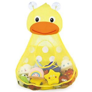 Bath Toy Organizers,Cute Toddler Toy Storage Caddy,Bathtub Storage Bags For Kids Baby Bathroom Quick Dry With 2 Strong Sucti