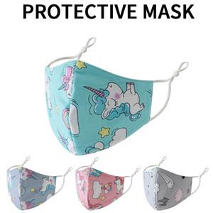 Fashion crianças unicórnias máscaras individualmente embrulhado puro algodão 3d lavável respirável seção fina para meninos meninas crianças máscara reutilizável