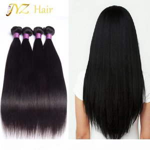 "JYZ Malaysian Straight Hair 4 Bundles Brazilian Virgin Hair Straight 8""-28"" Unprocessed Straight Human Hair Bundles"