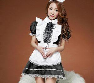 Women Sexy Lingerie Hot Sheer Sexy Maid women Babydool Baby Doll Costumes Erotic Lingerie Dress women nightwear waitress00