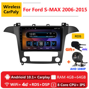 2 din 8 core android 10 car radio auto stereo for S-MAX S MAX 1 2006 2007 2008 -2020 navigation GPS DVD Multimedia Player car dvd