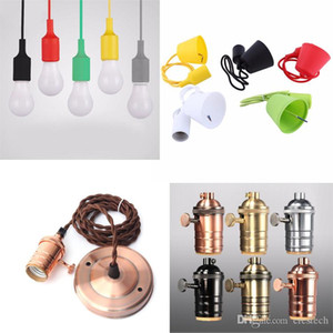 E27 Holder Edison Vintage Retro Lamp Base holde European and American style Bases Colorful Silicone Lamp Holder
