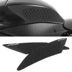 Car Tank Traction Side Pad Gas Fuel Knee Grip Protector For YZF R6 YZF-R6 2020 2020 Black White