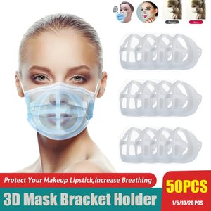 3D Mouth Mask Bracket Breathable Valve Protect Lipstick Inner Support Frame Nose Pad Enhance Breathing Space for Protect Makeup