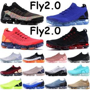 Sinek 2.0 Siyah Çok Renkli Koşu Ayakkabıları Erkekler Kadınlar Örgü Sneakers Racer Çalışma Mavi Mango Çin Yeni Yılı Gül Altın Kırmızı Yörünge Eğitmenler