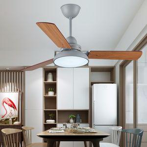 Uzaktan Kumanda Tavan pervanesi ile Lambası Soğutma LED 42 İnç Tavan Fan Işık Ahşap Kanatlı IKVVT Modern Tavan Fan
