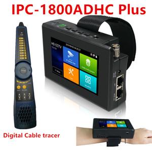 HD CCTV testeur IPC-1800ADH plus 4K 8MP IP CVBS CVI TVI AHD WiFi Hotspot numérique par câble RJ45 Tracer TDR Caméra IP POE Tester