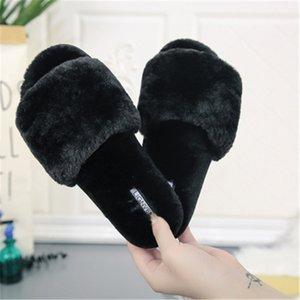 Slideshow 8High-tacco Pantofole per le donne sexy mescolato con scarpe di colore per le donne estate per le donne nuovo modo In Nero Beige # 841