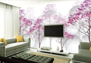 Custom Photo Wallpaper Large Wall Painting Background Wallpaper Purple woods Home Decor Living Room Wall Covering