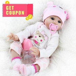 Xmas recém-nascido Baby Gift macia Dolls realista bonito menina Vinyl bebê aniversário de criança Handmade bonecas para 55cm renascido Meninos Silicone Brinquedos bbyEU