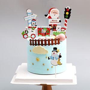 Festa de Natal Feliz Papel de coco do bolo de Papai Noel Cupcake Toppers para Casa Decorações do partido Feliz Natal árvore do bebê Duche