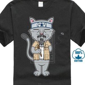 Sr. Meowgi gato Taekwondo camiseta de los hombres de alta calidad de judo animales camiseta divertida camisetas a la venta de la historieta Tee Shirts Verano 027209