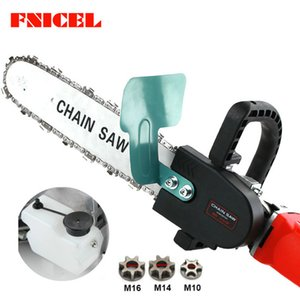 Electric Saws Upgrade 11.5inch Electric Chainsaw Bracket Adjustable Universal 10 M14 M16 Chain Saw Part Angle Grinder Into Chain Saw