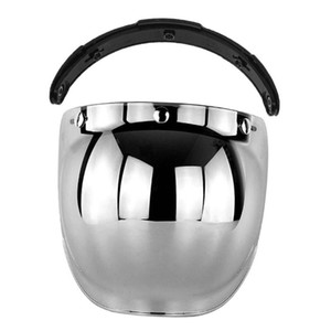 3-Snap Bubble Shield Visor Flip Up Wind Shield Lens Universal Accessories for Street Motorcycle Helmet
