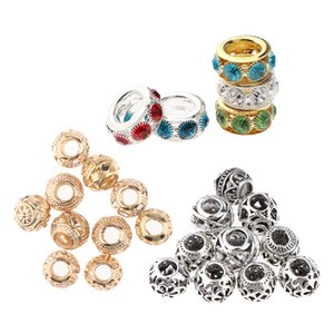 Pack of 25pcs Antique Dreadlock Rings Cuffs Metal Rhinestone Hair Braiding Decoration Beads Charms for Bracelet Jewelry Making