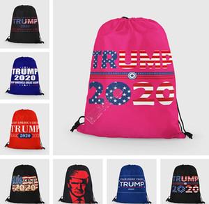 Donald Trump 2020 İpli Omuz Çantaları Unisex Sırt Çantası Büyük Cüzdan Cüzdanlar Depolama Totes Moda Spor Seyahat 35 * 42cm D91704 Paketleri