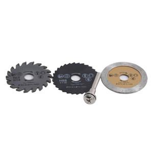 3шт / Set Mini High Speed Steel Saw Web Круговая Rotary режущее лезвие колеса Диски оправке Электрозеркала шлифовальные принадлежности