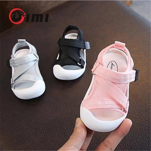 DIMI 2020 Summer Infant Toddler Shoes Baby Girls Boys Toddler Sandals Non-Slip Breathable Soft Kid Anti-collision Shoes Cl200916