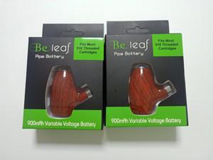 Hottest Büreaub VAPE MODS Vorwärm variable Spannung wiederaufladbare hölzerne Eipfstarter Kit 900mAh E Zigaretten für 510 Thread Vape-Kartuschen