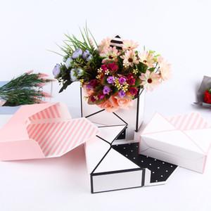 6PCS Envelope Flower Gift Box Creative Hand-folded Folded Envelope Flower Box for Bridal Shower Decoration Valentines Day Crafts