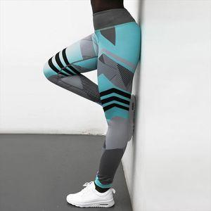 High Waist Legging Women Sexy Hip Push Up Pants Jegging Gothic Contrast Sports Leggins 2020 New Autumn Summer Women Wear
