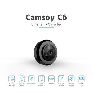 C6 1080P Mini Wifi nocturna de la cámara de detección de movimiento HD Visión Pequeño Cam Inicio de Seguridad DVR videocámara del vídeo de vista remota microcámara