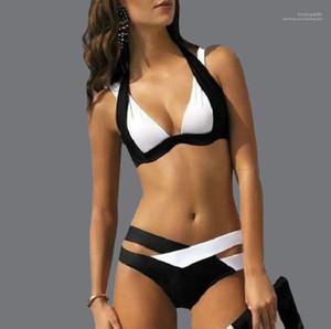Bikinis Designer Womens Swimwear Summer Maillot De Bain Designer Women Fashion Panelled Contrast Color Two Piece