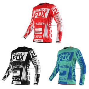 2020 NARİN FOX 360 Uçuş Motokros Jersey Dirt Bike Bisiklet Bisiklet MX MTB ATV DH Tişörtler Off-Road Erkek Motosiklet Yarışı T büzgü