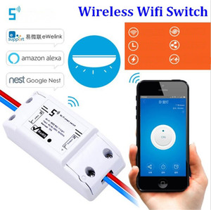 100set lot Wireless Wifi Switch For Smart Home Automation Relay Module 10A 90-250V 220V Support IOS Android Remote Controller