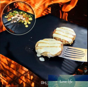Non-stick Reusable BBQ Grill Mats Sheet Baking Mat for Barbecue Grill Sheet Cooking Outdoor BBQ Accessories 40*33CM