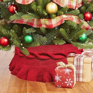1 Set / 2 pezzi Natale a tema Albero di Natale gonna Xmas Tree Grembiule Decor