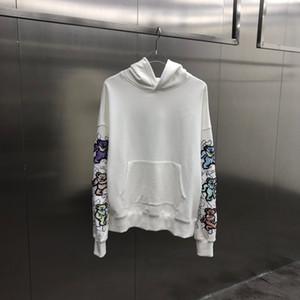 2020 winter New Designer Mens Clothing Homme Hooded Casual Sweatshirts Mens Women Hoodies Arm Bear embroidery Pullover Sweatshirt