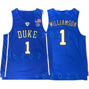 NCAA Zion 1 Williamson Duke Jersey Devils Bleu College Steve Nash 11 Irving LeBron James 23 Kyrie Vince 15 charretier Basketball Maillots