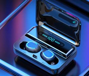 F9 이어폰 TWS 무선 헤드폰 블루투스 이어폰은 마이크와 함께 터치 헤드셋 음악 이어폰 스포츠 귀 꽃 봉오리베이스 귀 전화를 내지 8d