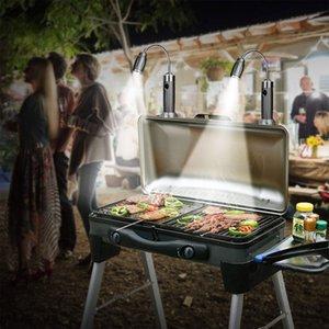 Cgjxs magnétique Super Bright Barbecue Lumière, Super Bright Led Lumière, Base magnétique flexible col de cygne Barbecue Lumière, batterie réglable