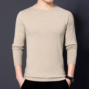 Autumn Casual Warm Sweater For Men O-Neck Mens Sweaters Gym Fit Pullover Men Classic Knitwear Pull Male With Plus Size