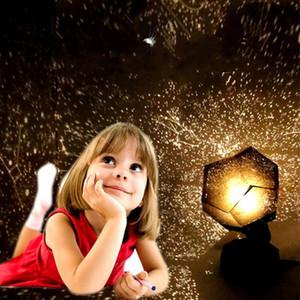 الذكية مليء بالنجوم الإسقاط مصباح السماء ليلة الخفيفة مصباح طاولة الكون للنوم طفل أطفال الطفل الحضانة هدية