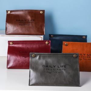 PU Leather Tissue Box Nordic Household Vehicle Napkin Bag Paper Towel Box Cosmetic Tools Organizer Bag Multifunction Storage