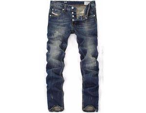 Hohe Quanlity Männer Blue Denim Designer Hohe Qualität Ripping Jeans Für Männer Klassische Retro Herrenjeans