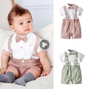 Ragazzo neonato I vestiti Set C 98% del O-Collo 2pcs tre torta infantile del Outfit