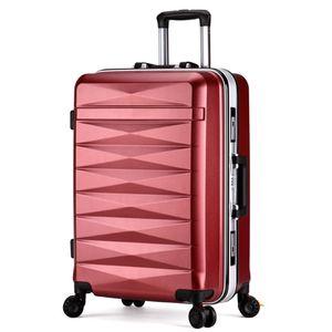 Männer Frauen reisen Trolley-Koffer Koffer Taschen Student Versandbox Aluminiumrahmen Universalrad ABS PC Gepäcktasche 20 24-Zoll-Passwort-Box
