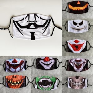 Horror Máscara i21ck Costume Party Adulto Horror Máscara Red Hat Clown Halloween Up Hallowmas HotLatex partido