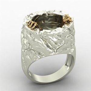 di colore dell'oro di Devil Vintage Secco Colore Silver FDLK calda dei nuovi uomini di 2.020 Anello del motociclista Jewelry Size 7 8 9 10 11 12 13 14