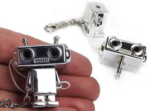 Catena del robot di musica Splitter chiave Migliorare Et Bot 2 .0 3 0,5 millimetri adattatore audio per la cuffia, auricolare, auricolari, altoparlanti Splitter Portachiavi Gadget